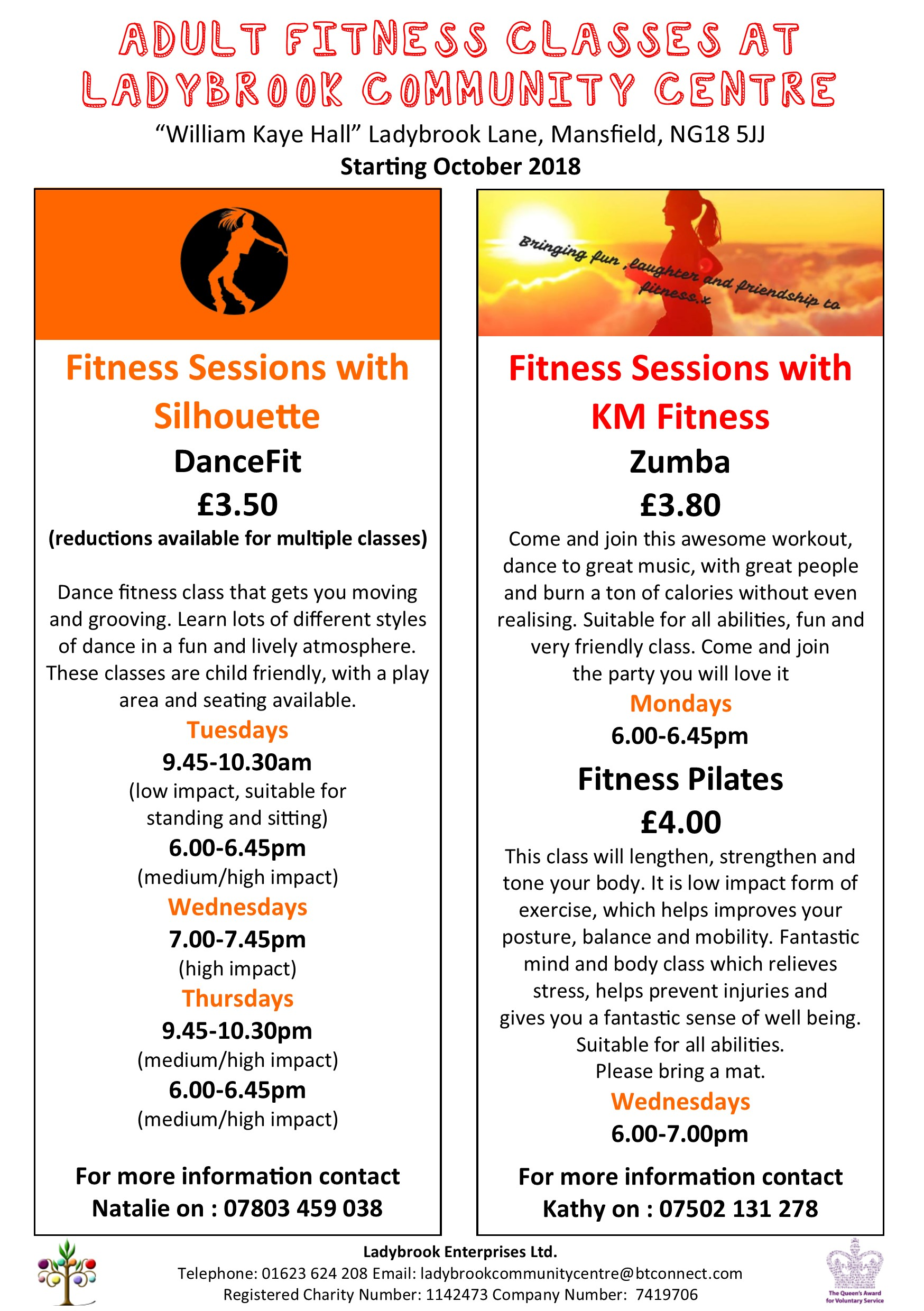 adult fitness info october 18
