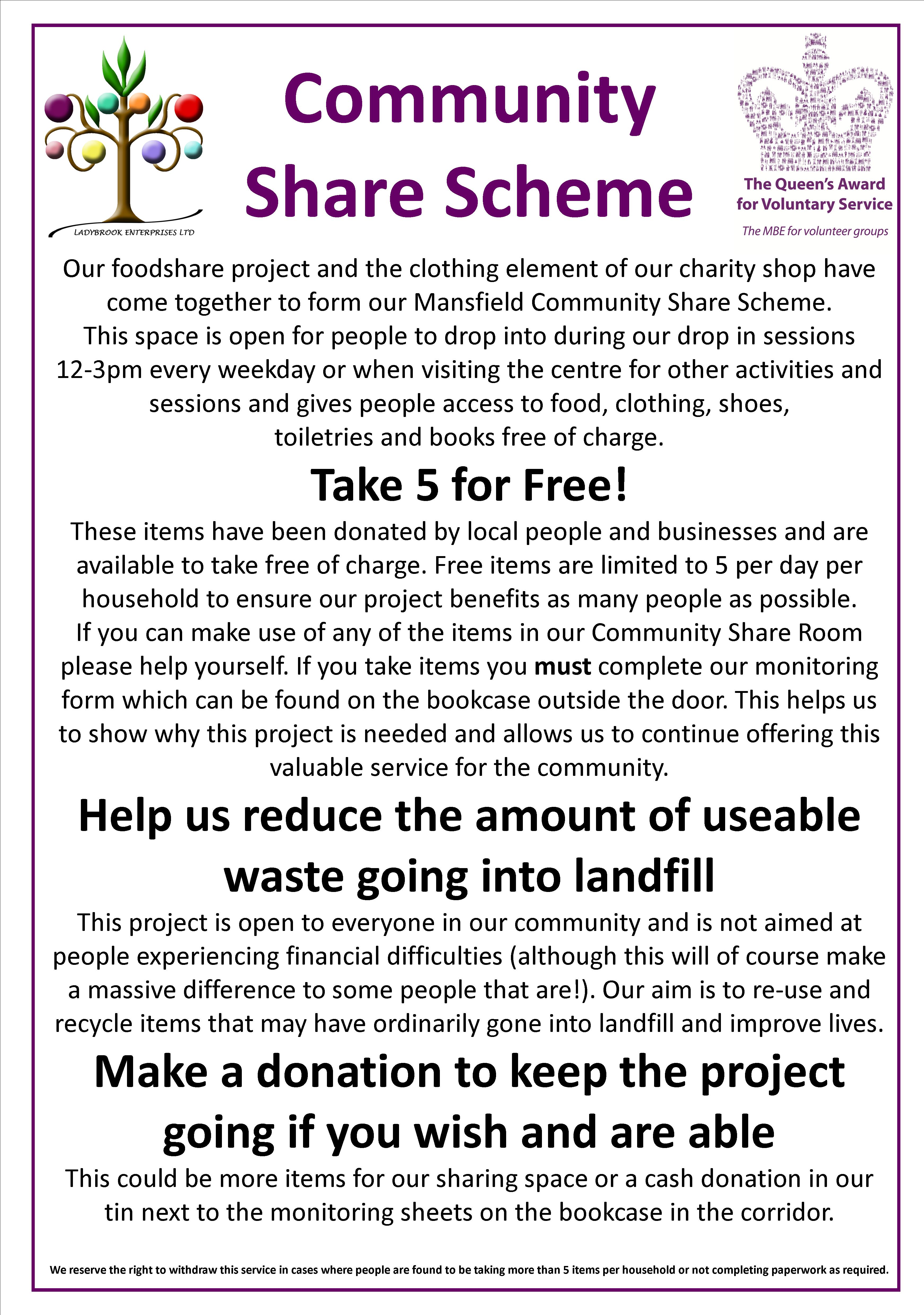 community sharing  scheme info