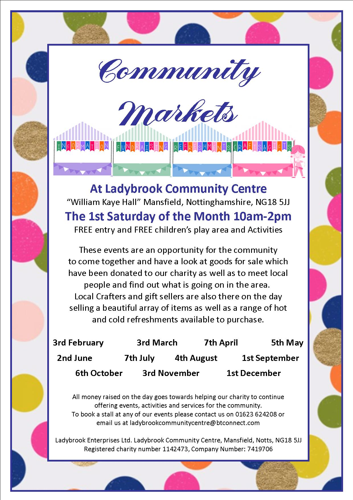 Community Markets 2018 poster