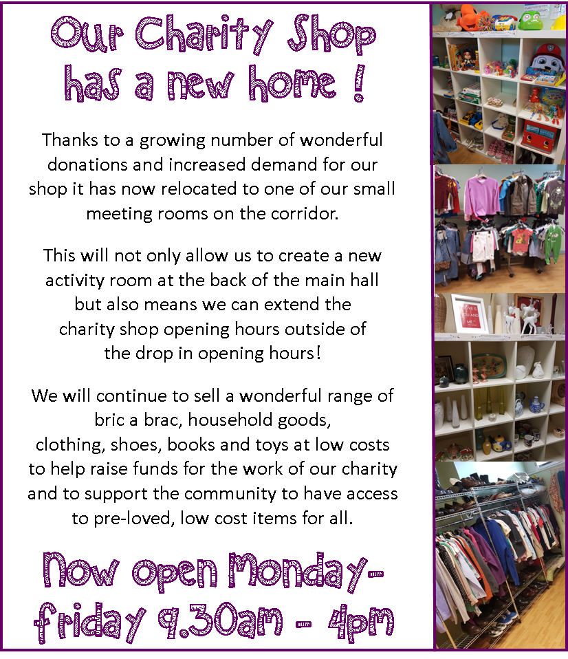 charity shop new opening