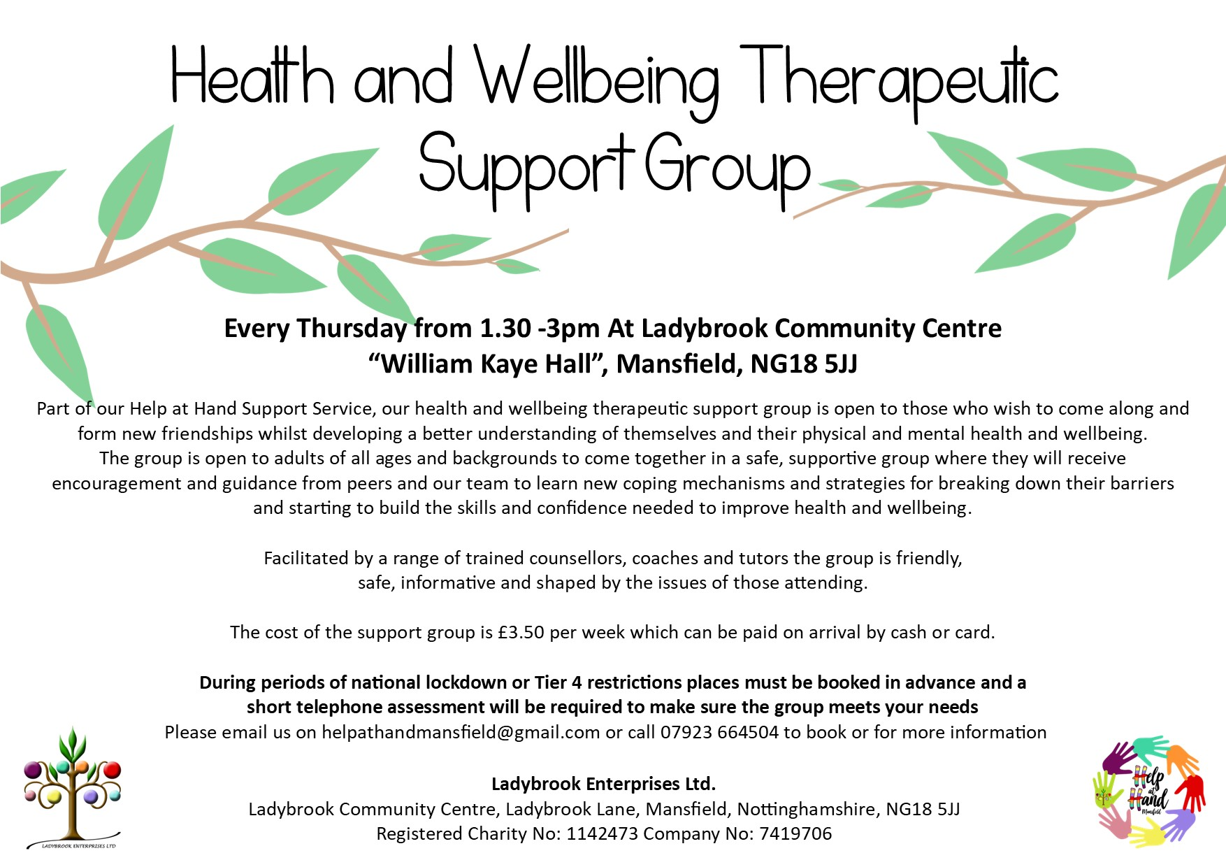 health and wellbeing therapeutic support